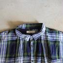 ichiAntiquités 100605 LinenTartan Shirt / GREEN