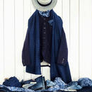 ichiAntiquités 100320 Cotton Wool Jacket / NAVY