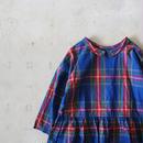 i c h i 180718 Indigo Tartan Check Pullover Blouse / Dark