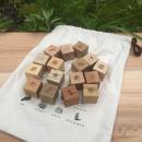 四角い積み木「森の恵み」16個(16樹種)セット