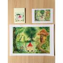 幸せを運ぶコロポックル3点セット(クリアファイル・ポストカード・メモ帳)