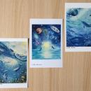 ポストカード3枚セット(「無限なる宇宙へ」「光の遊泳」「宇宙の深海へ」)