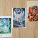 ポストカード3枚セット(「聖域の時空」「月夜のユニコーン」「ガネーシャ」)