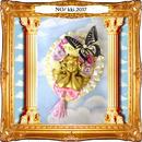 kki.2038 蝶と天使のBIGブローチ。