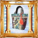 kki.2163 十字架と蜂のミニBAG。<ワインレッド>