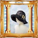 kki.2120 ブラックパイソンファークロッシェHAT。