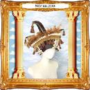 kki.2144 ヴェネツィアンクラウンスクエアコーンHAT。