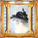 kki.2107 水玉チュールとボーンハンドのおリボンHAT。<ネイビー>