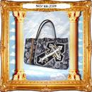 kki.2109 勲章とクロスの王冠と薔薇ロイヤルBAG。