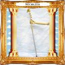 kki.2116 ゴールドラメゴージャスペガサスステッキ。