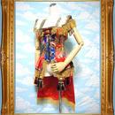kki.1780 中国女皇帝の鎧バスクコルセット 。