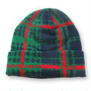 PLAID BEANIE GREEN