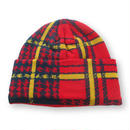 PLAID BEANIE RED