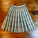 Wool Check Pleats Skirt