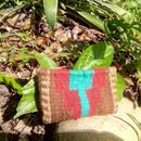 メキシコ手織りラナポーチ azul