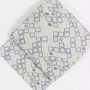 【袋帯】よろけ 花菱紋/グレー 薄紫【美品】ガード加工済 タグ付き