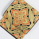 【特選】【錦 袋帯】川島織物 本袋(丸袋) 正倉院七宝大華文/黒 朱赤 金【超美品】お薦めです
