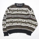 Color Knit Swetaer MADE IN USA L