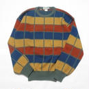 Color Knit Sweater MADE IN ITALY M