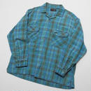CHECKERED OPEN COLLAR SHIRT  RUSTY