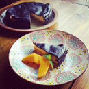 ブルーチーズの真っ黒チーズケーキ