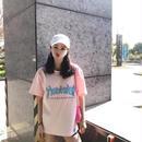 大人気 Tシャツ 半袖 ピンク系 レディース愛用