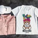 人気Tシャツ 半袖 可愛い クマ 男女兼用  2色