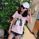 人気Tシャツ 半袖 ピンク 可愛い 男女兼用