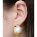 Champagne drop pierced earrings