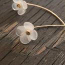 春いろ小花 のピアス 【ホワイト】