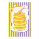 パンケーキ:デザイナーズポストカード