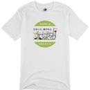 攻城団ロゴTシャツ(白、前面、丸ロゴ白緑)