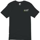 攻城団ロゴTシャツ(黒、背面)