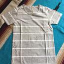 ボーダーTシャツ グレー/ホワイト Sサイズ