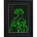 A4 ポスターフレームセット 【団扇を持つおひさ × Louis Vuitton #sh43 】
