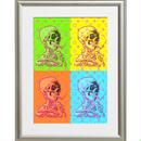 A4 ポスターフレームセット 【 Van Gogh Skull with Cigarette #sh08 】
