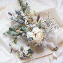 bouquet set~パステルカラーのクラッチブーケ~ヘッドドレス・ブートニア