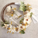 bouquet set~ミモザのリースブーケ~ヘッドドレス・ブートニア