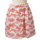 カモフラージュ柄ボックススカート(オレンジ)