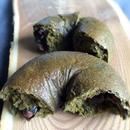 抹茶と黒豆アーモンドのベーグル