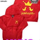 KINGSIZE /kids main logo zip hoody