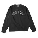 HUG LIFE - Crew sweat shirt (BLACK)