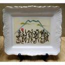 飾り皿「富士といろは」(桐箱入り) 縦14.5㎝横17㎝