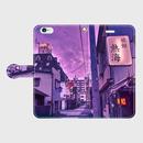 高知県・堺町の歓楽街 iPhoneケース(手帳型)