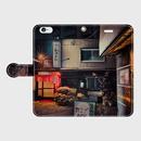 愛知県・中村遊廓《飲み屋横丁》 iPhoneケース(手帳型)