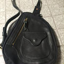 "ZOOL LEATHER""D""POCKET BAG BLK"
