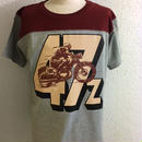 HMC 47z FOOTBALL-T BURGUNDY/MIX GRY