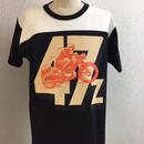 HMC 47z FOOTBALL-T  BLK/ORG