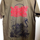 """""""毒禄寿"""" T-shirt オリーブグリーン"""