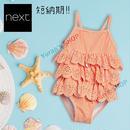 NEXT|国内在庫あり★オレンジストライプフリルスイムスーツ